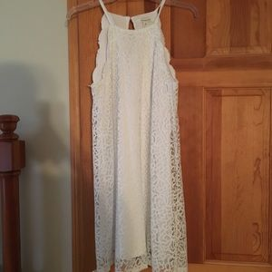 White dress from Francesca's Boutique